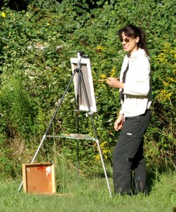 Claire Hardy plein air painting